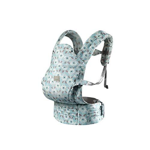 WYNZYYEBD Porte-bébé, Multi-fonctionnel Respirant Taille Ceinture Tabouret Four Seasons Porte-bébé Universel, Convient Pour 0-36 Mois Bébé (Couleur : Bleu)