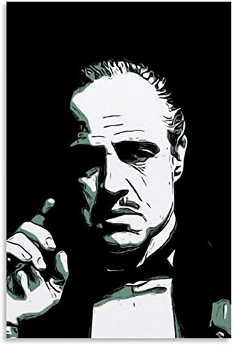 Luck7 Canvas Prints Wall Art Posters Movie And Tv Pop Godfather for Office Decor Artwork Poster Walls Painting 15.7'x23.6'(40x60cm) NO FRAME