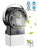 Homitt Mini Condizionatore Portatile, Raffreddatore D'aria silenzioso a 3 velocità, Mini Climatizzatore d'aria orario, 7 colori di luce notturna per ufficio, auto, camera da letto
