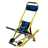 QWD Silla de Escalera de elevación de Camilla, Trolley de Camilla de Ambulancia, Silla de evacuación de Bomberos Ligeros de Aluminio con Hebilla de liberación rápida