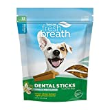 Fresh Breath by TropiClean Dental Sticks for Small Dogs (5-25 Pounds), 12ct, 8oz - Made in USA - Removes Plaque & Tartar