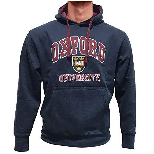 Oxford University Unisex Sudaderas con Capucha Oficial con Licencia Producto Regalo de Recuerdo Bordado Men Women Hombres Mujer Hoodie Sweatshirt (XS, Azul Marino)