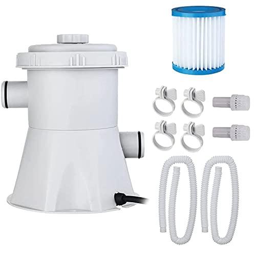 EEUK Filtros para Piscina, Filtro de Agua Eléctrico de Bomba de Filtro, Anti-Microbial, Depuradora de Cartucho, Giving Usted Limpiar y Fresh Agua