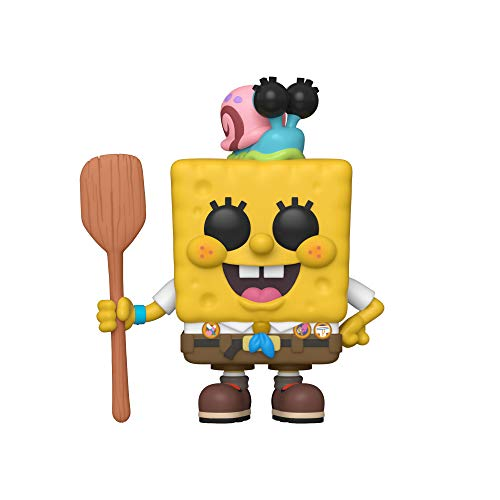 Funko Pop! Animation: Sponge Bob - Spongebob in Camping Gear, Multicolor, Estandar