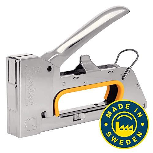 Rapid Handtacker R23 für Holz und Leinwand, Kompakt, Komplett aus Stahl, für Klammern Typ 13, 4-8mm