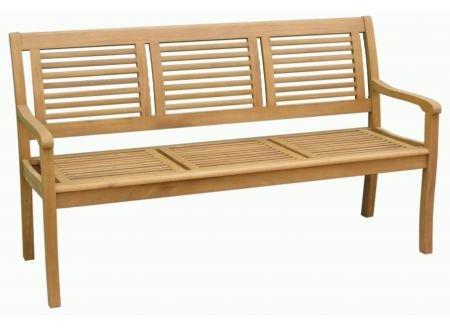 Hagebau 3-Sitzer Gartenbank Paolo Teakoptik