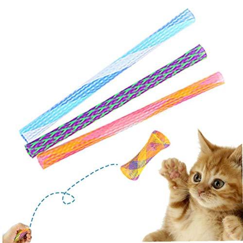 Juguete del Gato 3pcs Salto Divertidos para Mascotas Que Despide Juguete del Perrito Gatito Jugando Juguetes Hinchables Teaser Juguetes Aleatoria