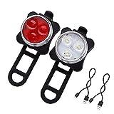 Mangetal LED Fahrradlicht Set USB Aufladbar Wasserdicht Fahrradlampe Set