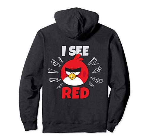 US Angry Birds Text Red I See 01 Pullover Hoodie