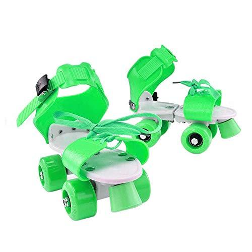 LYAID Kinder-Rollschuhe, verstellbare Jugend-Rollschuhe für Mädchen, Zweireihige 4-Rad-Skateschuhe, verstellbare Schlittschuhlänge, geeignet für Menschen jeden Alters,C