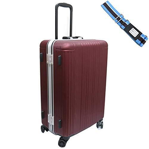 [セット品] (シフレ) Siffler SIF1065-M(58) 60L 受託手荷物無料サイズ・ スーツケースベルト 【合計2点セット】 (ヘアラインレッド)