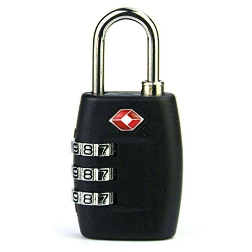 HMILYDYK TSA aprobado por las cerraduras de equipaje de viaje Indicador de alerta abierta para candado de seguridad de combinación de 3 dígitos