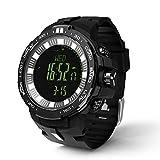 Changor Conveniente Pesca Deporte Reloj, Digital Deportes Reloj -20 ℃ ~ 60 ℃ Resolución 1 ℃/1F 1 X CR2032 (Incluido) 12 Meses con Abdominales