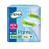 Tena Pants Super große (L) Schutzhosen für starke Blasenschwäche / Inkontinenz - atmungsaktiv, sehr diskret und doppelter Auslaufschutz 1er Pack (1 x 12 Stück)