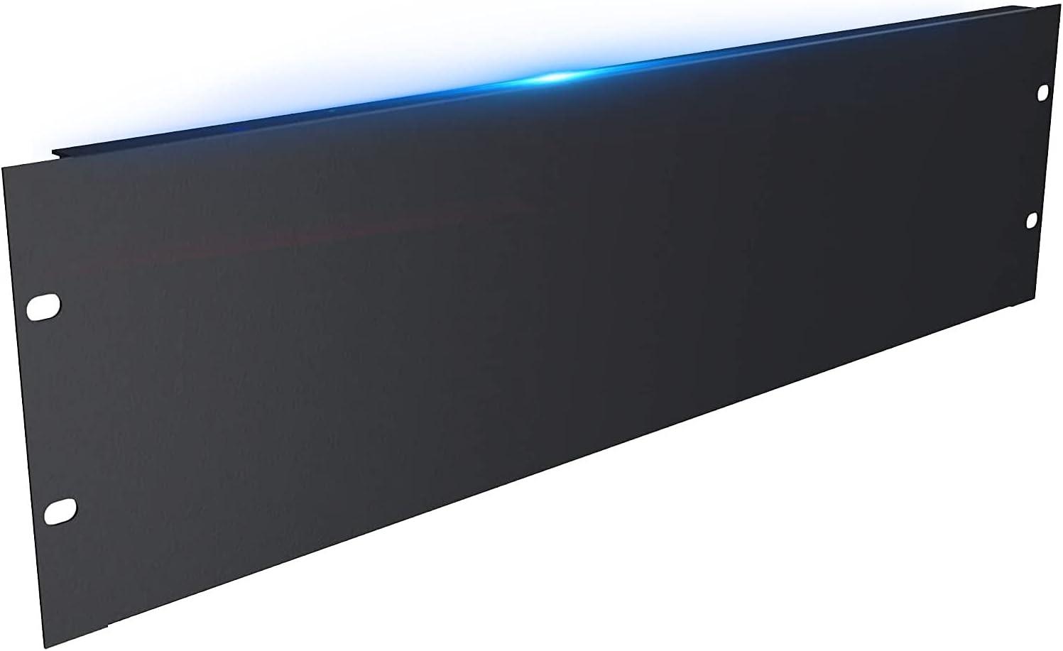 3U Black Blank Rack Mount Panel partition, Suitable for 19-inch Server Network Rack Cabinet