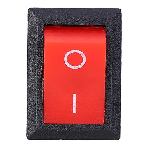 LANTRO JS - 10 Uds Mini interruptores basculantes 2 pines KCD1-101 Interruptor basculante redondo de encendido/apagado para barco de coche usado en bebederos