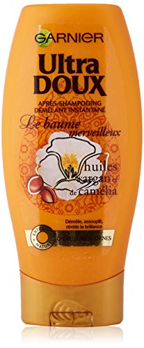 Garnier Ultra Doux Baume Merveilleux Aux Huiles d'Argan et Camélia - Baume Démêlant Cheveux Secs