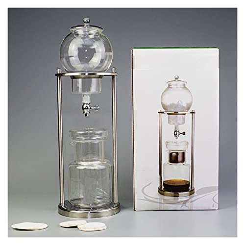 YJSS JXXXJS Máquina de Filtro de Vidrio Reutilizable de 600 ml 1000ml Herramienta de Filtro de Vidrio Reutilizable Espresso Dripper Cafetera de café Máquina de café de Goteo de Hielo