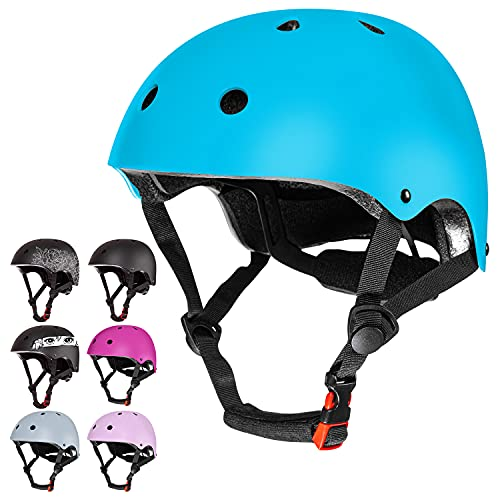 MhIL Kids Bike Helmet – Toddler Helmet for Boys & Girls, Bicycle Helmet for Ages 3-5/5-8/8-14 - for Skateboard, BMX, Scooter, Cycling, Climbing, Balance Bike - 3 to 14+ Years Old Baby to Youth