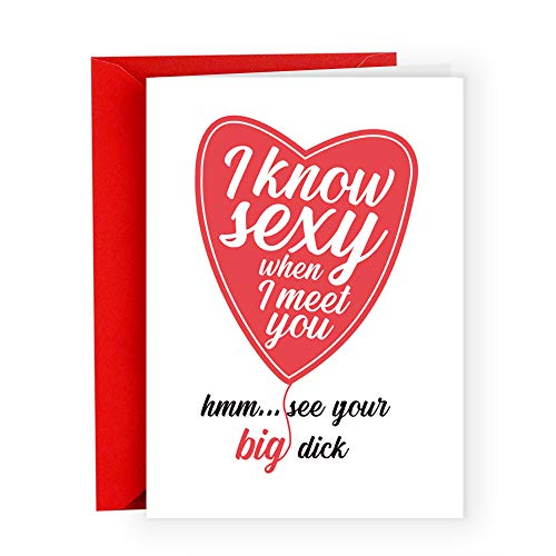 Cool & Unique Anniversary Love Card for Husband Boyfriend Men,Romantic Valentine's Day Gifts for Men