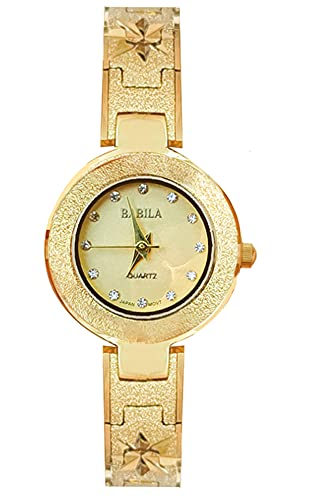 CHXISHOP Relojes retro Moda Oro Relojes De Mujer Con Correas Delgadas, Compactos Y Exquisitos Relojes Literarios, Relojes Brazalete