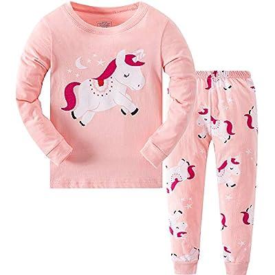 Qzrnly - Pijama para niña , de manga larga, de invierno, 2 piezas, 5-6 Años