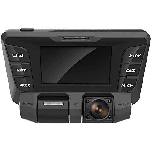 4K Ultra HD WIFI 340° 2,7 Inch Dash Cam per Auto,Anteriore Posteriore Doppia Telecamera Dashcam Auto per Monitoraggio Atti Vandalici con 128 GB SD Card,Monitor di Parcheggio e Rilevatore Movimento