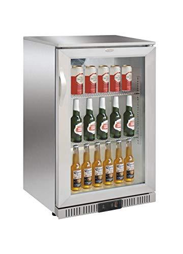 Flaschenkühlschrank mit Glastür 138 Liter Getränkekühlschrank Kühlschrank Barkühlschrank Gastronomie Gewerbe Gastro