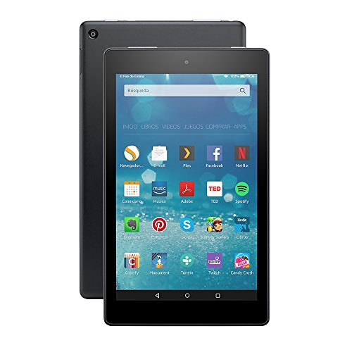 Tablet Fire HD 8, pantalla HD de 8'' (20,3 cm), Wi-Fi, 16 GB (Negro) - Incluye ofertas especiales