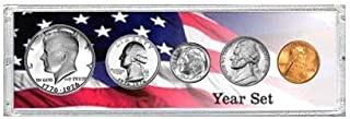 1980-5 Coin Year Set - Choice Brilliant Uncirculated - In Snap-Lock Protective Holder