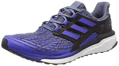 Adidas Herren Energy Boost Laufschuhe, Schwarz (Raw Steel S18/hi-res Blue S18/core Black) , 48 EU