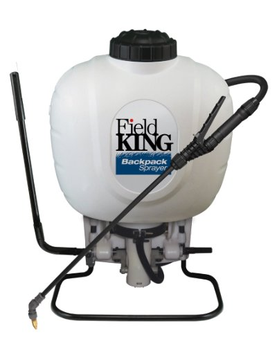 Field King 190350 Backpack Sprayer for Weed Control , White , 4 gallon