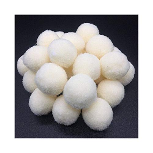 YVCHEN Fluffy Soft Pompom Plush Pom Poms Ball Pompones Handmade Sewing Craft Kids Toy Wedding Decor (Color : Light Beige, Size : 25mm 18pcs)