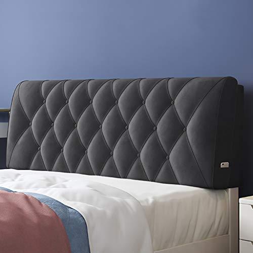 FAPROL Bett Kopfteil Gepolstert Langes Rückenkissen Für Betttaschen-Design Taille Unterstützung Weicher Schwamm Nicht Leicht Verformbar Warm Touch Gray 150cm