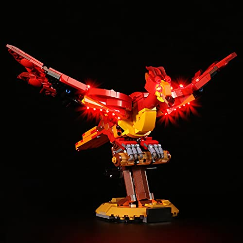 LESDIY Kit de LED pour Lego Harry Potter Fumseck - le phénix de Dumbledore 76394, Jeu De Lumières pour Lego 76394 ( Lego Modèle Non Incluse )