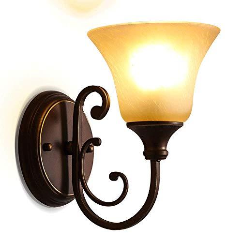 Vinteen Américain Rural Rétro Miroir Phare Lampe Murale Lumière De Style Européen Chevet Fer Art Nostalgique WC Salle De Bains En Verre Applique Mur Lanterne Up And Down Spots