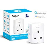 TP-Link Smart Plug WiFi Outlet, Works with Amazon Alexa (Echo and Echo Dot), Google Home, Wireless Smart Socket, Remote Control Timer Plug Switch, Free Tapo App Control, No Hub Required(Tapo P100)