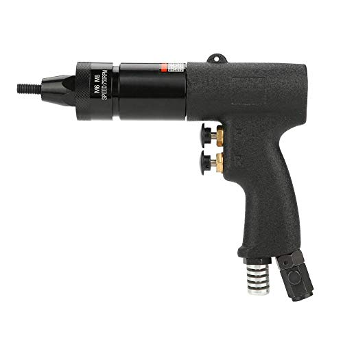 Pistola de tuerca neumática, pistola de remachado de aire Tuerca de extracción Herramienta de pistola de tuerca remachadora de aire automática Adecuado para todo tipo de placa de metal(M6 M8-KP-739A)