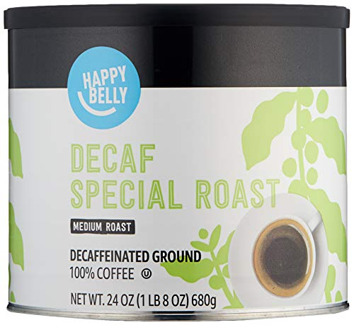 Amazon Brand - Happy Belly Decaf Canister Coffee, Medium Roast, 24 Ounce