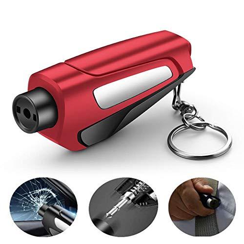 Yongirl 3 in 1 Auto Life Key Chain Fensterbrecher Sicherheitsgurtschneider, tragbarer Glasbrecher Schlüsselbund für Land- und Unterwassernotfälle, Safety Car Escape Tool,