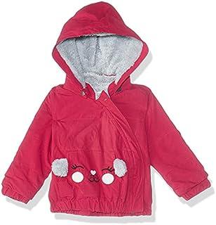 Giggles Side-Zipper Kangaroo-Pocket Cuffed-Trim Fur Lined Hooded Jacket for Girls