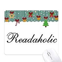 readaholicスタイリッシュワード ゲーム用スライドゴムのマウスパッドクリスマス