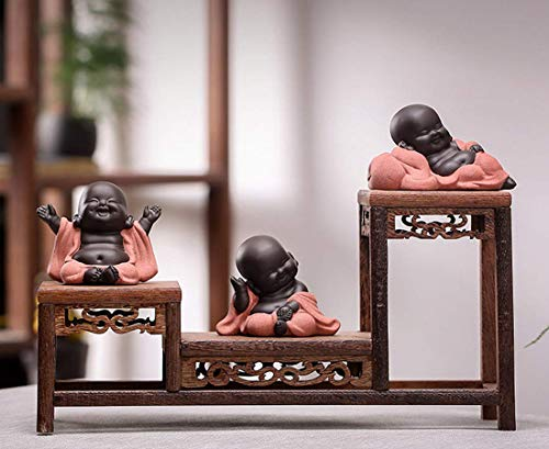 A Collection of Cutie 3 Buddhas Lovely 3 Style Smiling Buddha Laughing Buddha Statue Great Details Giftable Make You Happy
