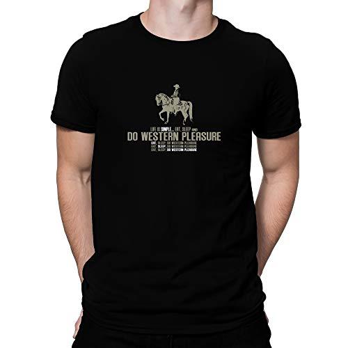 Teeburon Life is Simple Eat, Sleep, do Western Pleasure Camiseta S