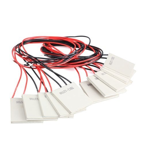 TEC1-12706 半導体熱電 クーラー ペルチェ 素子 タブレット DC12V 6A 10枚セット