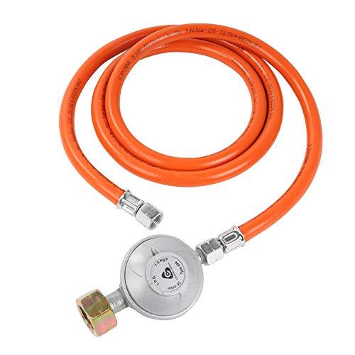 Bade Gasdruckregler 50mbar |1,5M Schlauch | Schraubanschlüssen 1/4