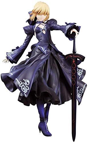 Fate/Grand Order Säbel Artoria Pendragon PVC Figur - Schwarz, Rot, Weiß Kleid - Hoch ca. 23CM (Farbe: Schwarz)