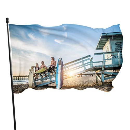 XiexHOME Gruppe von Freunden gehen, um Flaggen für Dekoration Fahne zu surfen, um 3x5 Fuß vibrierende Farben Qualität Polyester und Messing Ösen zu dekorieren