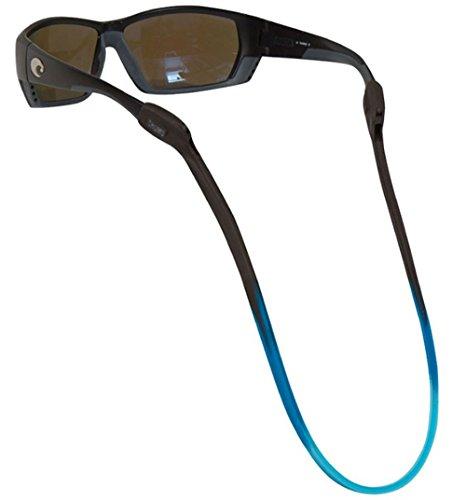 Chums Switchback Silicone Eyewear Retainer in Black/Marine Blue/Aqua