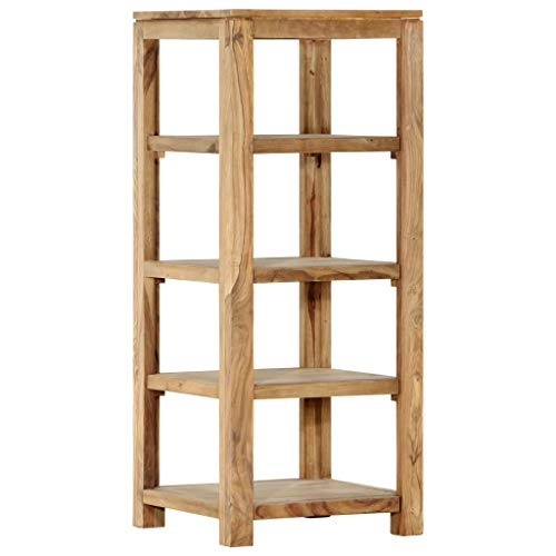 vidaXL Sheesham-Holz Massiv Bücherregal 4-stufig Standregal Holzregal Regal Lagerregal Wandregal Büroregal Schrank Palisander 43x43x105cm